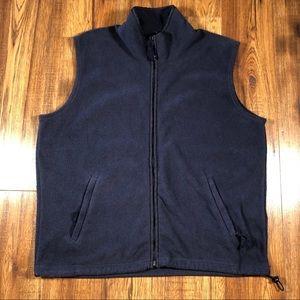 Ozark Trail navy blue fleece zip up vest L